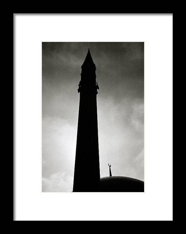 Inspiration Framed Print featuring the photograph Twilit Mosque by Shaun Higson