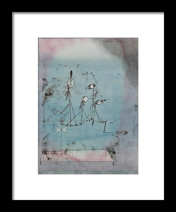 Twittering Machine >> Twittering Machine 1922 Framed Print By Paul Klee