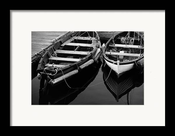 Harbor Framed Print featuring the photograph Two At Dock by Karol Livote