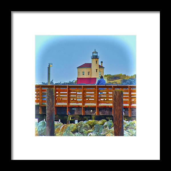 Lighthouse Framed Print featuring the photograph Two At Rest by Dale Stillman