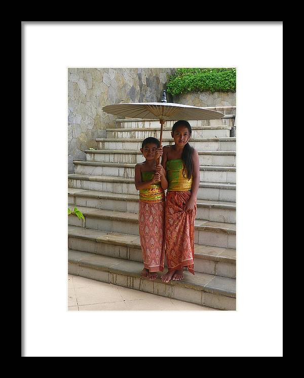 Bali Framed Print featuring the photograph Two Bali Beauties descended by Jack EdsonAdams