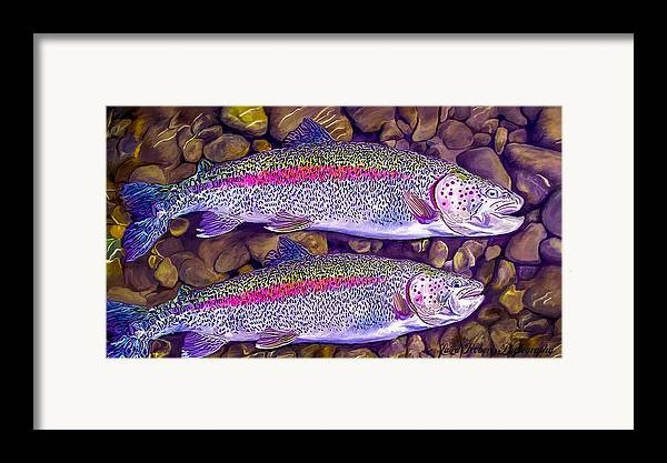 Fish Framed Print featuring the photograph Two Beauties - Trout by Laird Roberts