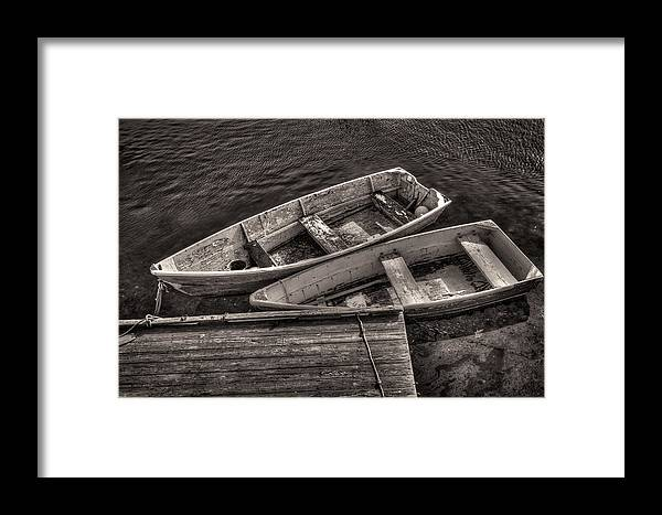 Boats Framed Print featuring the photograph Two Boats by Fred LeBlanc