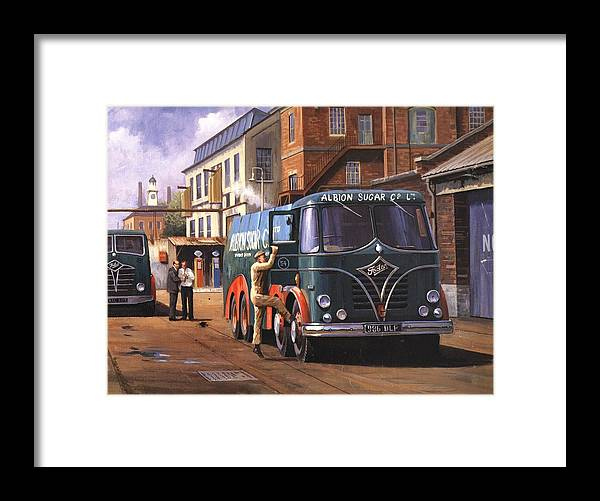 Foden Framed Print featuring the painting Two Fodens by Mike Jeffries