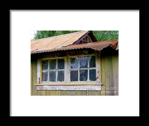 Windows Framed Print featuring the photograph Two For The View by Mary Deal