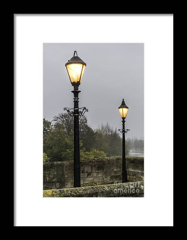 Lamps Framed Print featuring the photograph Two Lamps by Keith Douglas