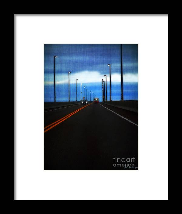 Cars Framed Print featuring the painting Two-lane Blacktop by RC DeWinter
