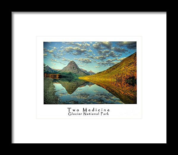 Lake Framed Print featuring the photograph Two Medicine Lake Sunrise by Virgil Hawkinson
