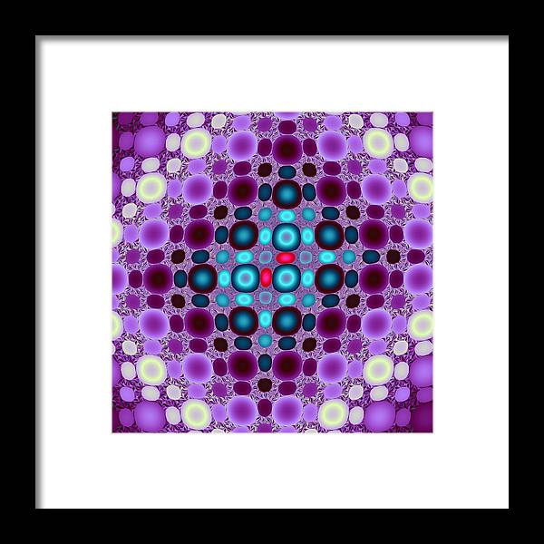Abstract Framed Print featuring the digital art Two Red Beads by Mark Eggleston