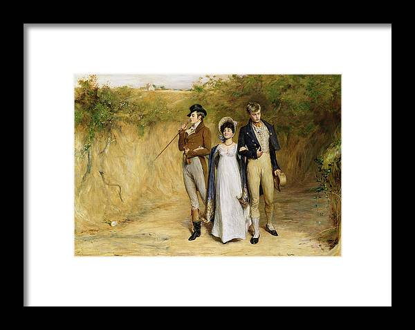 Dating Framed Print featuring the painting Two Strings To Her Bow by John Pettie