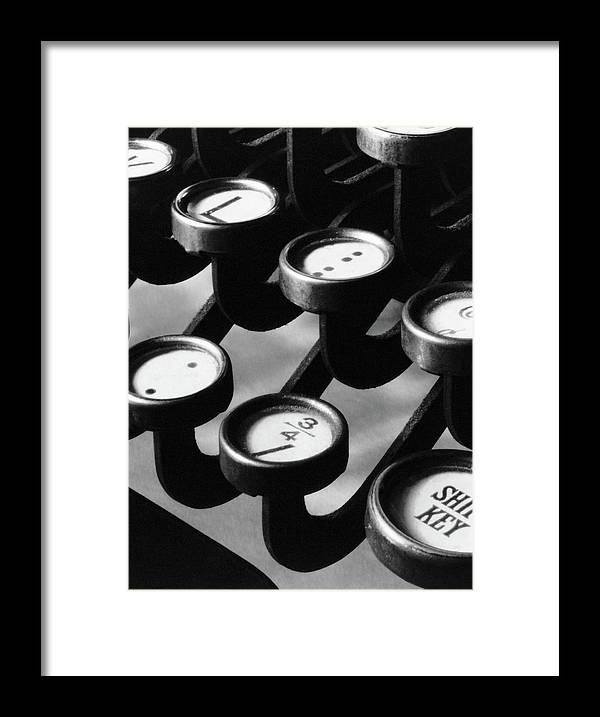 1921 Framed Print featuring the photograph Typewriter Keys, 1921 by Granger