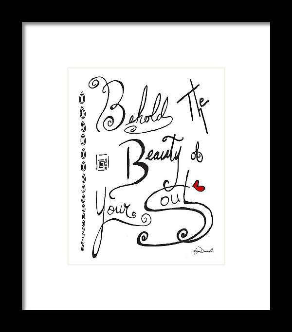 Typography Black And White Word Art Unique And Whimsical Drawing By ...