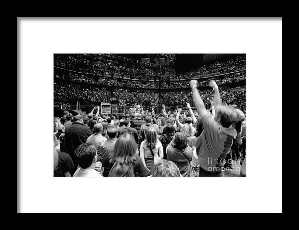 Bono Framed Print featuring the photograph U2-crowd-gp13 by Timothy Bischoff