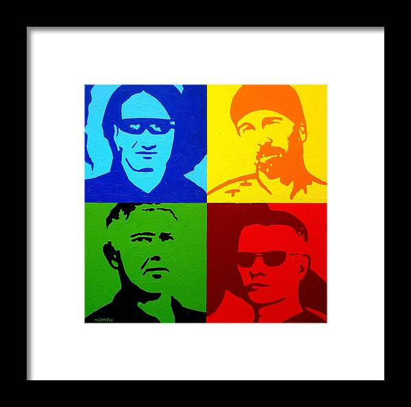 Acrylic Framed Print featuring the painting U2 by John Nolan