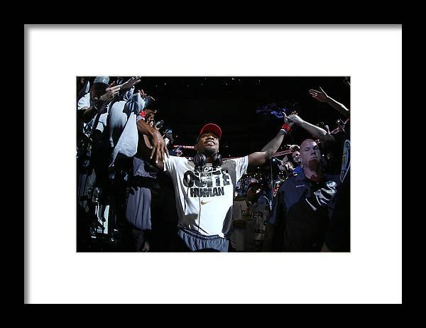 Heavyweight Framed Print featuring the photograph Ufc 165 Jones V Gustafsson by Al Bello/zuffa Llc