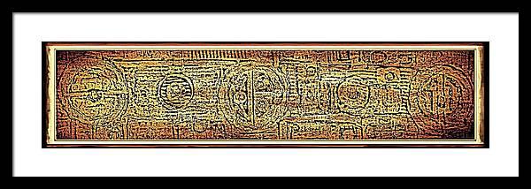 u.f.o Language 15 X 30 Framed Print featuring the painting Ufo Language by Ben Asayag