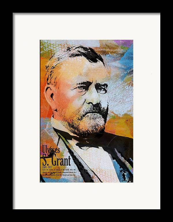 Ulysses S. Grant Framed Print featuring the painting Ulysses S. Grant by Corporate Art Task Force