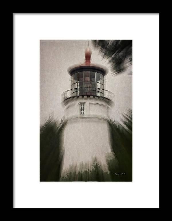 Umpqua Lighthouse Framed Print featuring the photograph Umpqua Light Fantasy by Mick Anderson