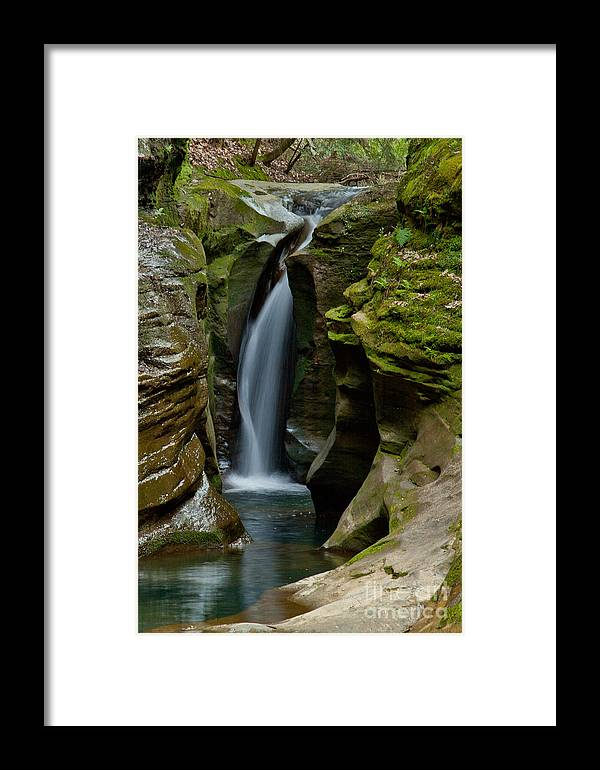 Akron Framed Print featuring the photograph Un-named Falls by Jack R Perry
