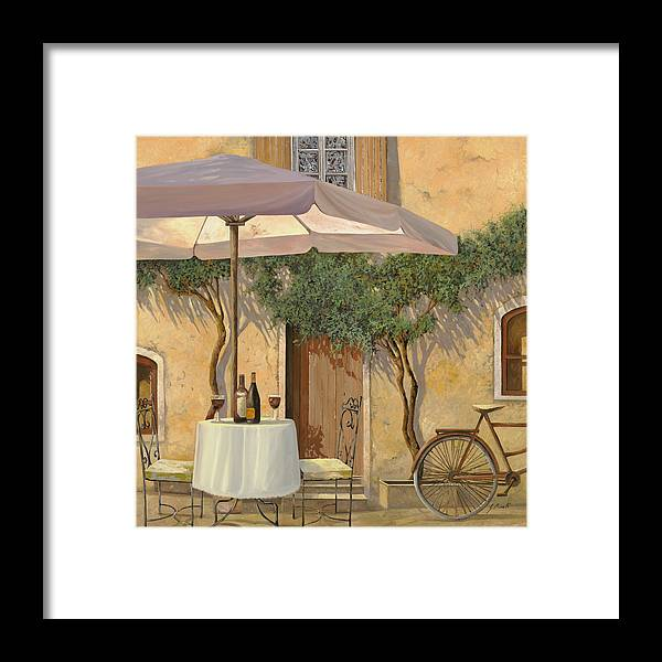 Courtyard Framed Print featuring the painting Un Ombra In Cortile by Guido Borelli