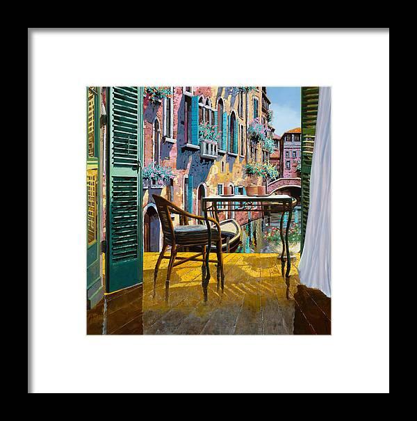 Un soggiorno a venezia framed print by guido borelli for Venezia soggiorno