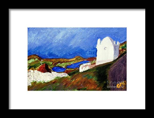 Ardales Framed Print featuring the painting Una Vista De Ardales by Greg Mason Burns