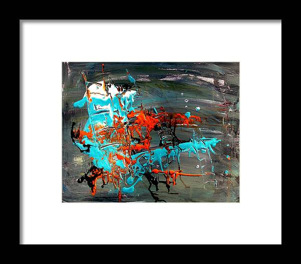 Abstract Framed Print featuring the photograph Under Sea Ladders 3 by Cj Carroll
