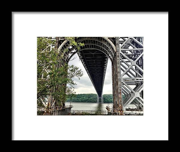 New York City Framed Print featuring the photograph Under The Bridge by Donald Groves