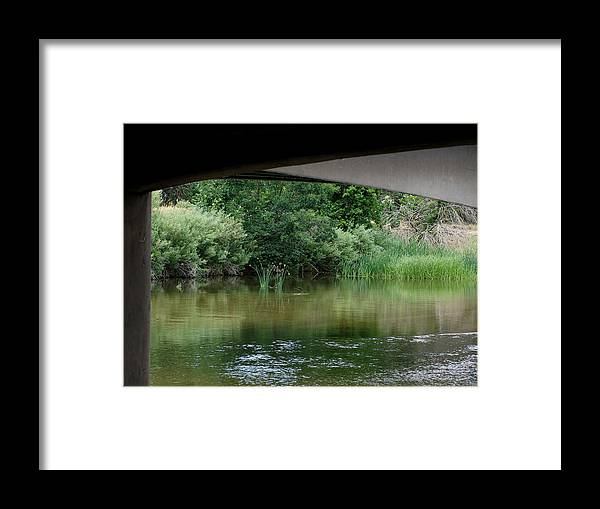 Under The Bridge Framed Print featuring the photograph Under The Bridge by Ernie Echols