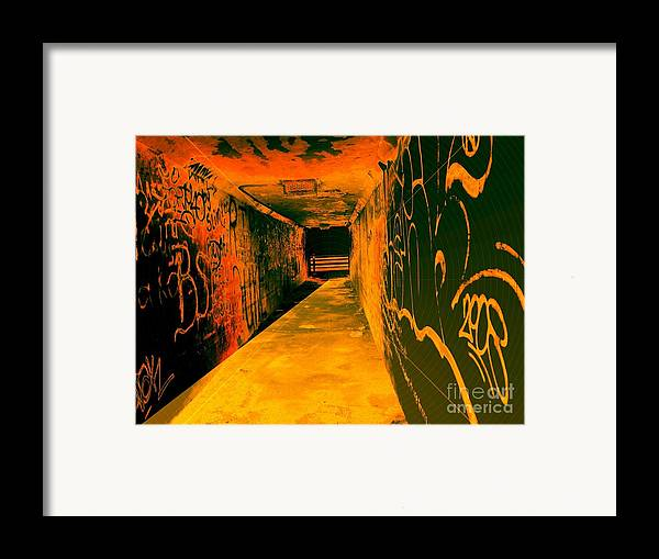 Tunnel Framed Print featuring the photograph Under The Bridge by Ze DaLuz