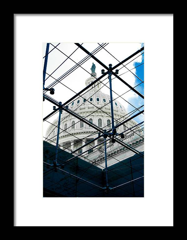 Arlington Cemetery Framed Print featuring the photograph Under The Dome by Greg Fortier