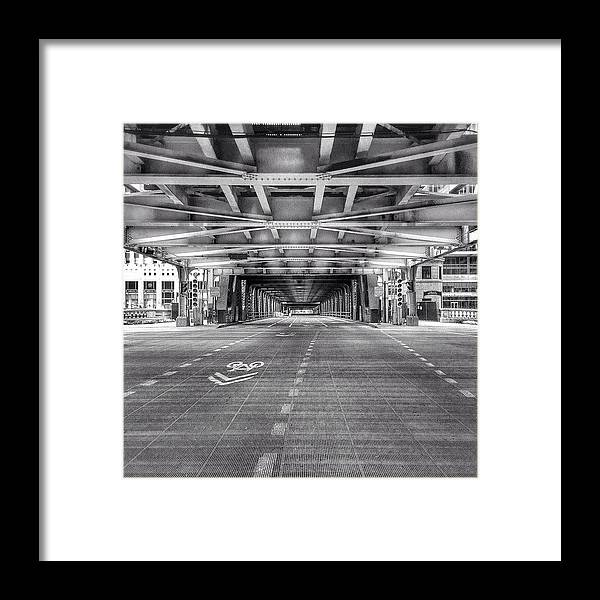 America Framed Print featuring the photograph Chicago Wells Street Bridge Photo by Paul Velgos