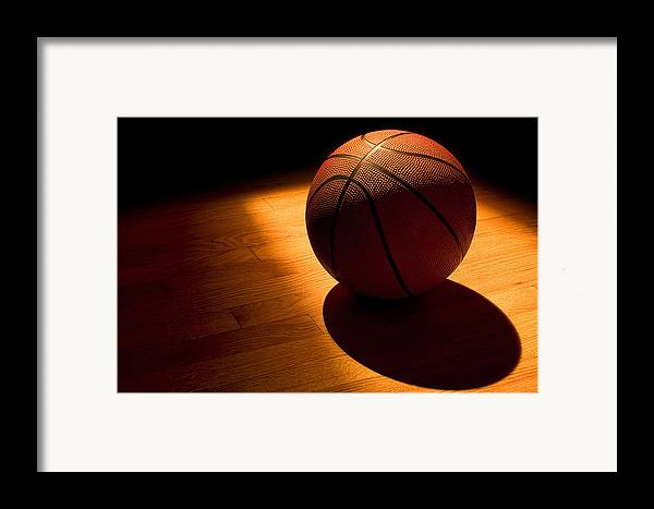 Basketball Framed Print featuring the photograph Under The Lights by Andrew Soundarajan