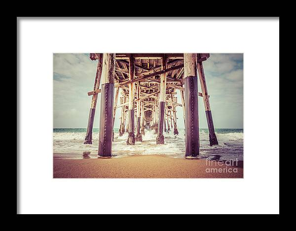1950s Framed Print featuring the photograph Under The Pier In Orange County California Picture by Paul Velgos