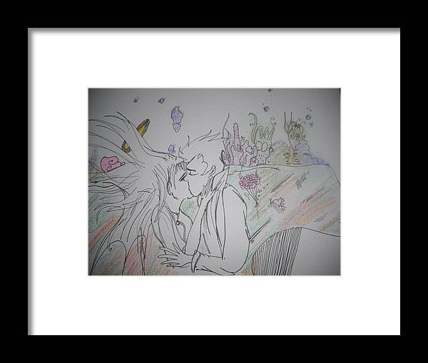 Sea Framed Print featuring the drawing Under The Sea by Allyson Andrews