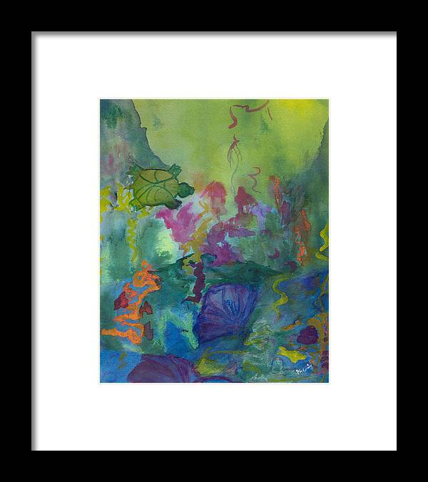 Vibrant Framed Print featuring the painting Under the Sea by Phoenix Simpson