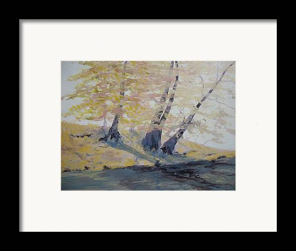 Oil Framed Print featuring the painting Undercut Bank by Dwayne Gresham