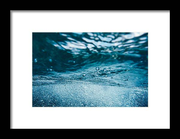 Underwater Framed Print featuring the photograph Underwater Bubbles by Borchee