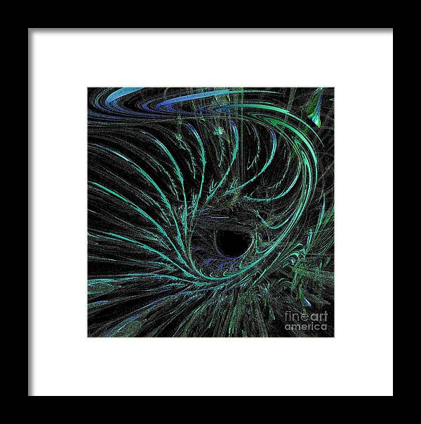 Current Framed Print featuring the digital art Underwater Current by Gail Matthews