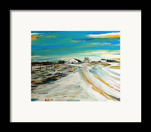 Acylic Framed Print featuring the painting Unexpected Dusting Sutton Ma by Scott Nelson
