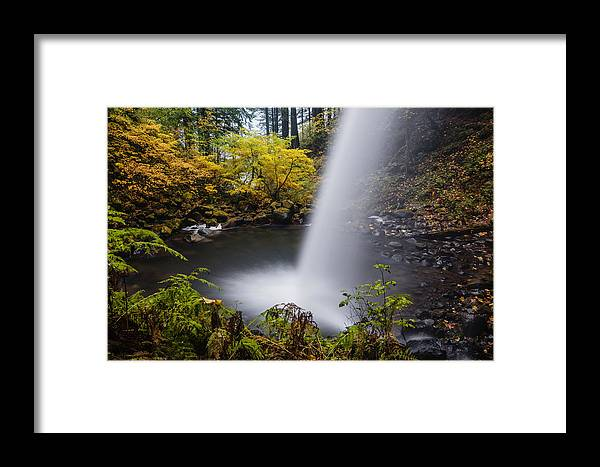 Ponytail Falls Framed Print featuring the photograph Unique View Of Ponytail Falls by Vishwanath Bhat