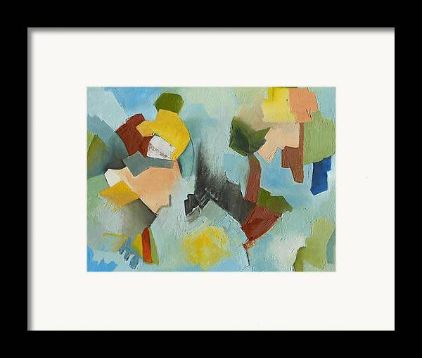 Abstract Oil Painting Framed Print featuring the painting Uniquity by Danielle Nelisse