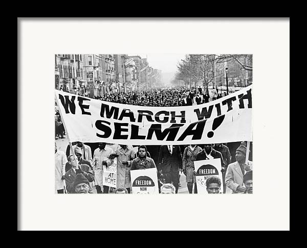 Civil Rights Framed Print featuring the photograph United For Justice by Benjamin Yeager