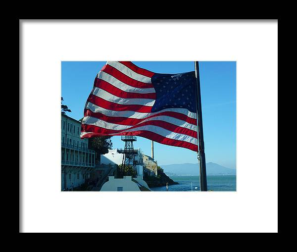 Photography Framed Print featuring the photograph United States Flag by Fabien White