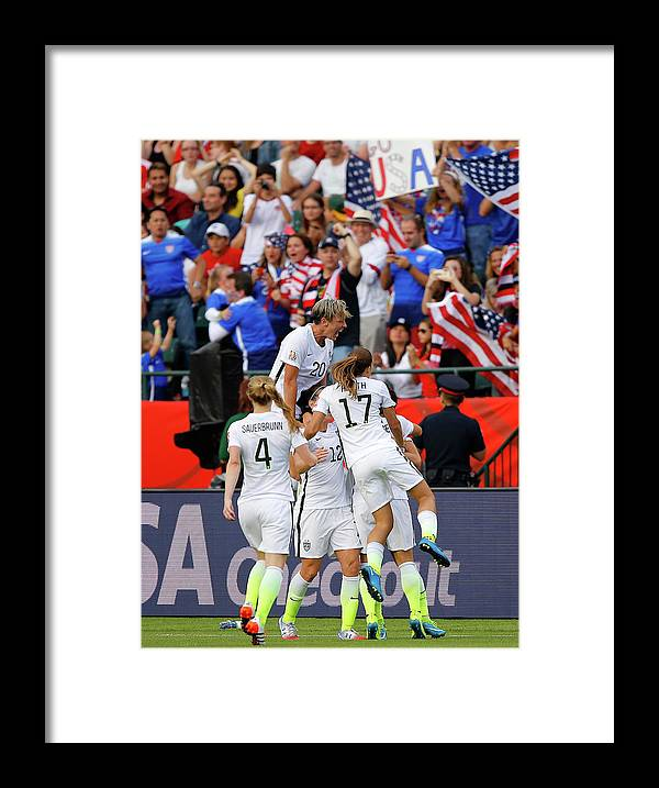 International Match Framed Print featuring the photograph United States V Colombia Round Of 16 - by Kevin C. Cox
