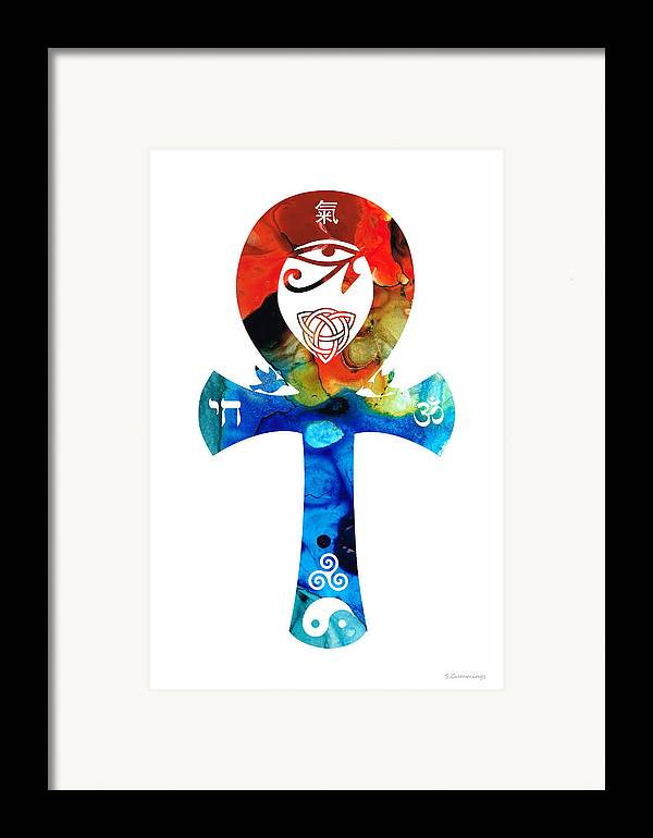 Unity Framed Print featuring the painting Unity 16 - Spiritual Artwork by Sharon Cummings
