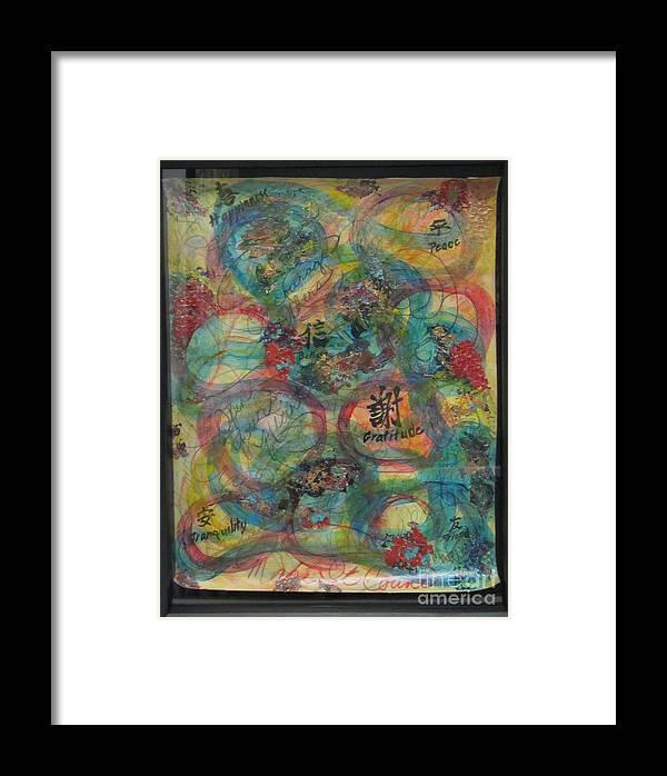 Colorful Framed Print featuring the painting Unity by Jeanne Ward