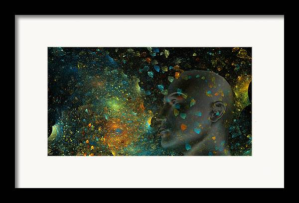 Fractal Framed Print featuring the digital art Universal Mind by Betsy Knapp