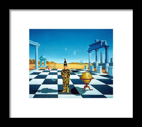Landscape Framed Print featuring the painting Universal Playground by Yves Lanthier