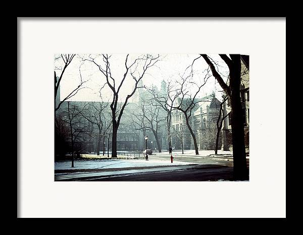 University Of Chicago Framed Print featuring the photograph University Of Chicago 1976 by Joseph Duba